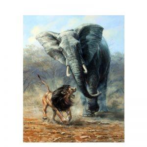 Elefánt Szám Festmény