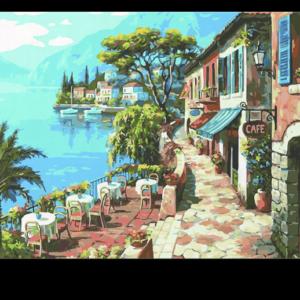 Olasz Kávézó Terasz – számfestő készlet