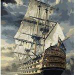 Csatahajó Ágyúkkal – számfestő készlet