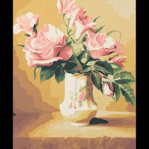 Rózsák Vázában – számfestő készlet