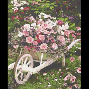 Talicska virágok – számfestő készlet