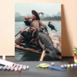 Kormorán Halász – számfestő készlet