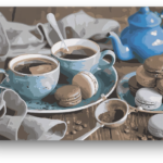 Kávé Macaron – számfestő készlet